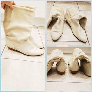 Vintage Karen Scott Spain suede/leather boots.